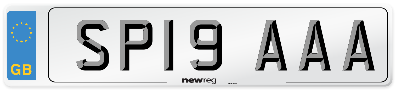 SP19 AAA Number Plate from New Reg